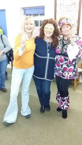70's night with Wendy, Christine and Louise dressed to impress