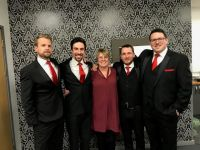 Lizs friend Angela with The Opera Boys