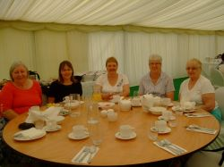 Breakfast in the bridal tent at Leicester Assembly 2016