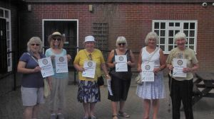 Canterbury Group We SIX members at the start of the walk with DC Sheila