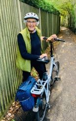 Canterbury member Pauline with her bike
