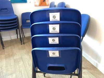 Chairs purchased with IW labels
