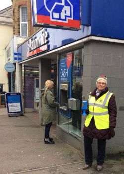 President Rita collecting for Rotary in Broadstairs