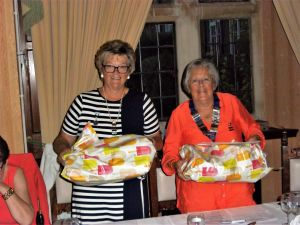 Janet and Margaret with their presents