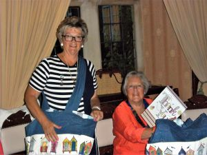 Janet and Margaret with their presents opened