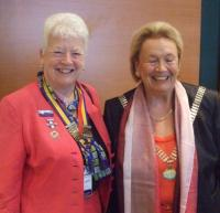 Member of Council Liz Jackson and International President Catherine Refabert at Istanbul Conference