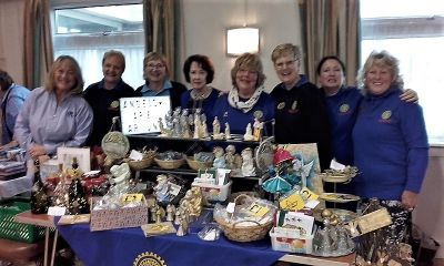 Members with the stall