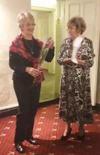 President Pam inducting new member Yvonne Watson 2018