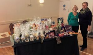 President Rose and ISC Lynda at Westgate & Birchington Chocolate Raffle