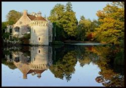 Scotney Castle in the Autumn Evening Light