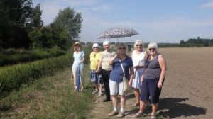 Seeking shade with DC Sheila and Canterbury members