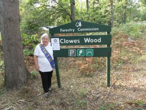 Sheila in Clowes Wood
