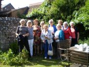 Swedish Visitors with Eastbrne Sov out for Cream Tea
