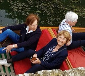Swedish Ladies in a punt at Leeds Castle
