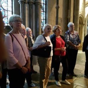 Swedish ladies visiting Canterbury Cathedral