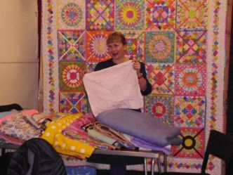 Tracey and quilts