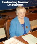 Treasurer Dot Boardman